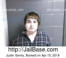 Justin Gentry mugshot picture
