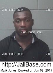 Malik Jones mugshot picture